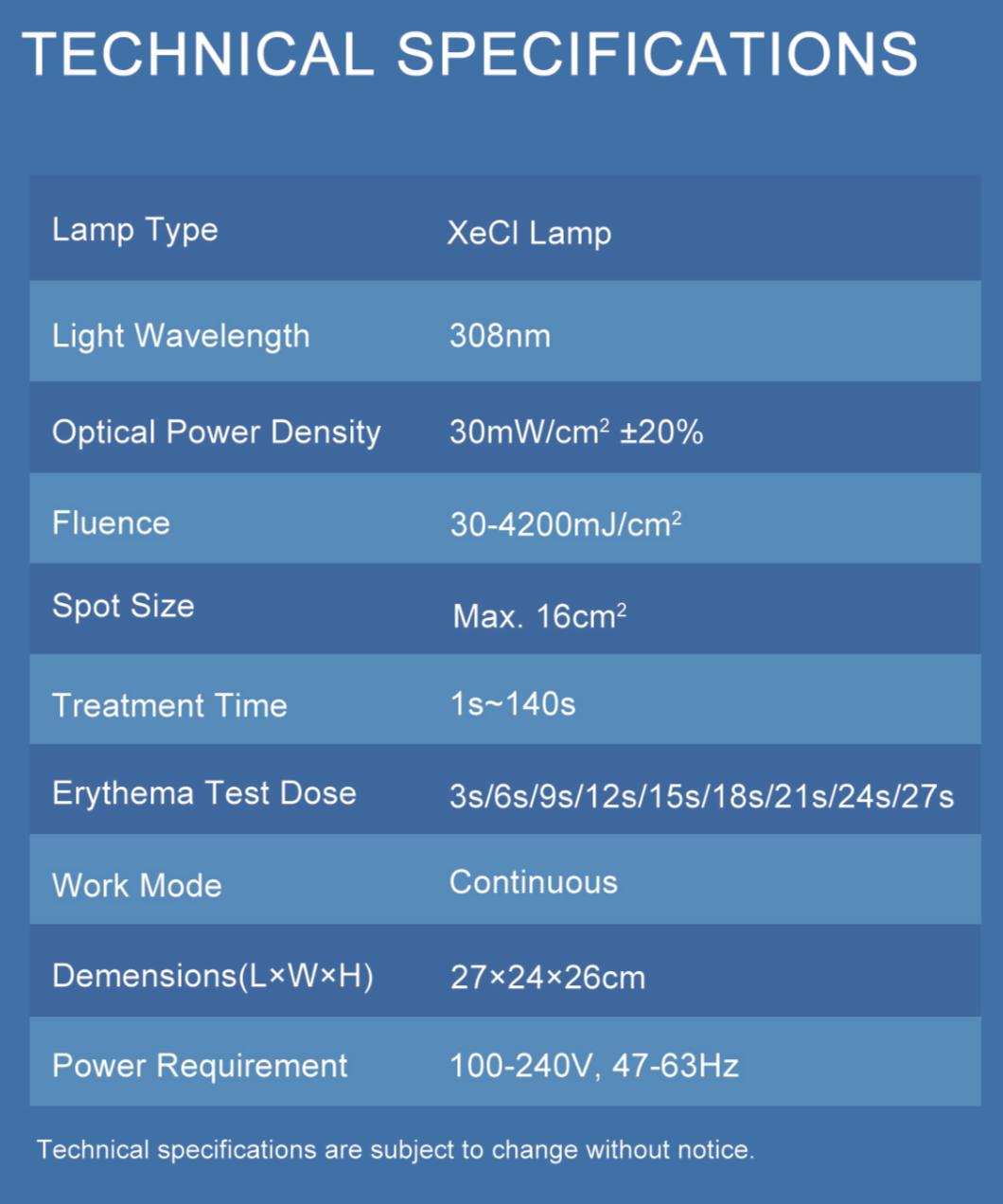 Equipo Laser Eximer para vitíligo 9